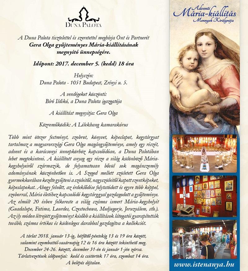 Mária-kiállítás